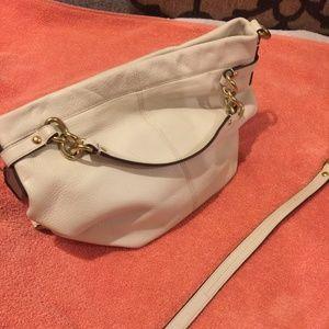 Coach purse - off white leather
